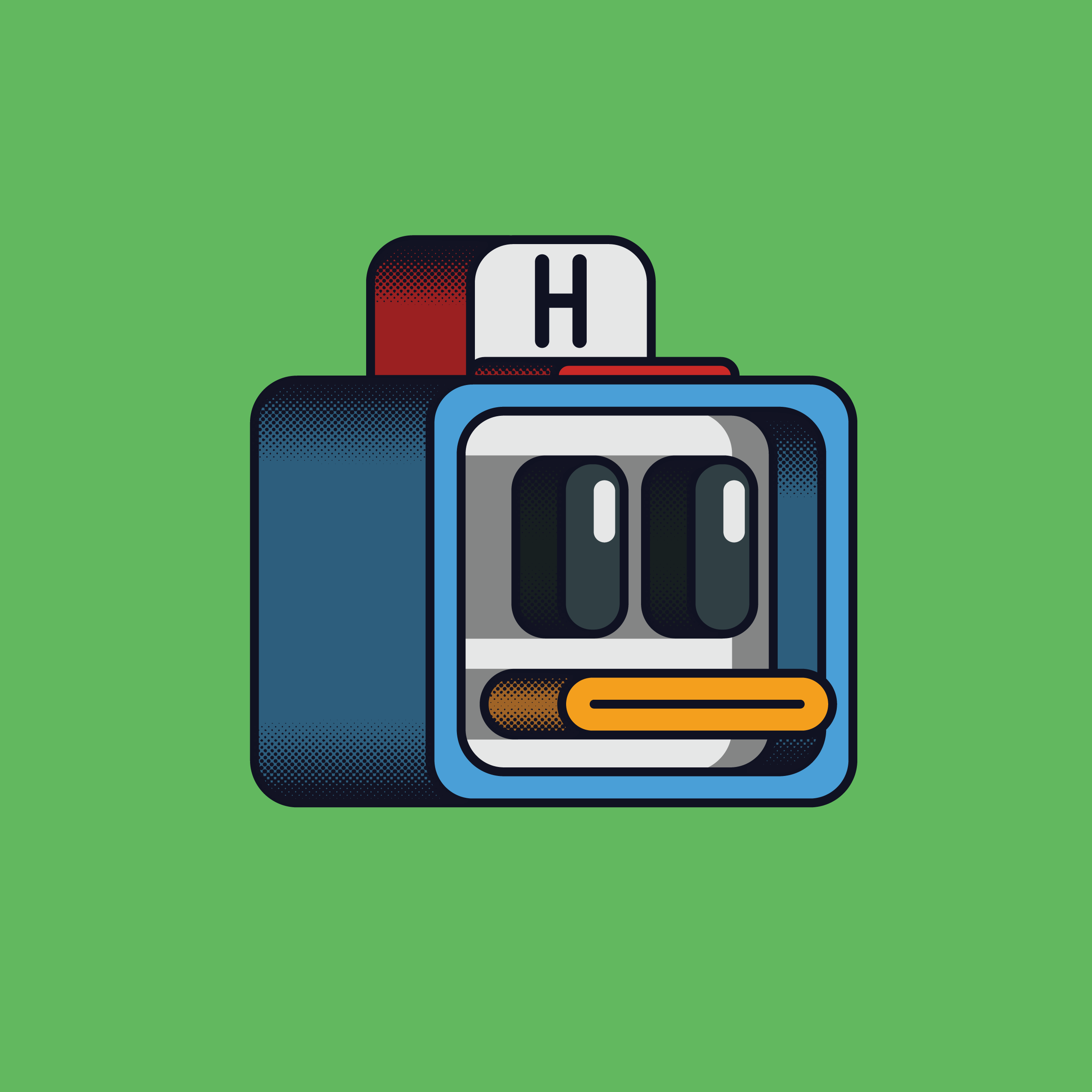 space duck block artwork